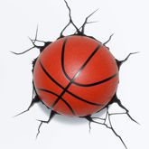LAMPKA NOCNA LED 3D BASKETBALL